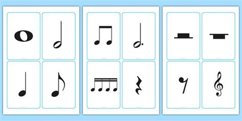 printable music note value flash cards hudebn 237 značky kartičky hudebka pinterest hry