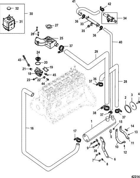 mercruiser 3 0l gm 181 i l4 closed cooling system parts