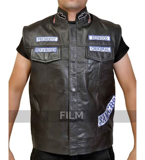 leather vest sons of anarchy jax teller biker vest with patches