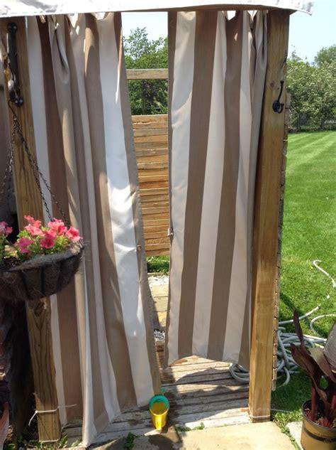 Outdoor Shower Curtains Outdoor Shower Curtain Enclosure Home Design Ideas