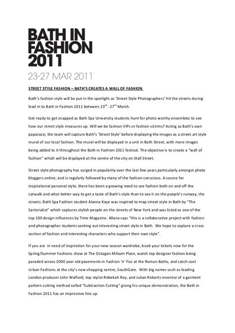 fashion press release template style fashion press release
