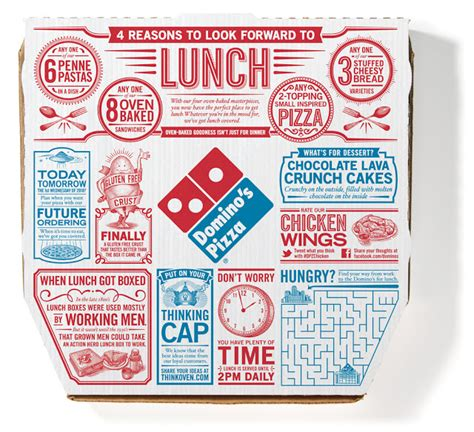 domino pizza living world pizza press on packaging of the world creative package
