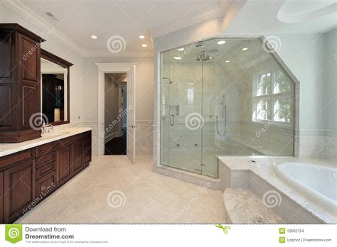step up bathtub master bath with step up tub stock images image 12662754