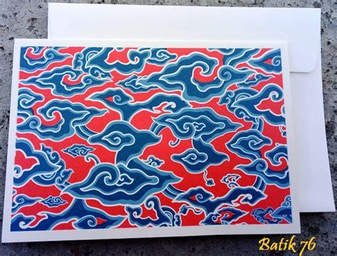 Kartu Ucapan Handmade Batik76 Motif 1 jual kartu ucapan handmade motif megamendung merah size l kartu ucapan batik kartu ucapan