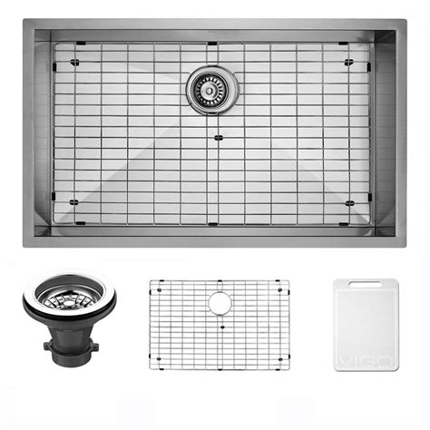 Stainless Steel Grid For Kitchen Sink Vigo Undermount 30 In Single Bowl Kitchen Sink With Grid And Strainer In Stainless Steel