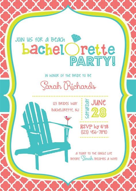 themed party weekends custom beach themed bachelorette party invitations