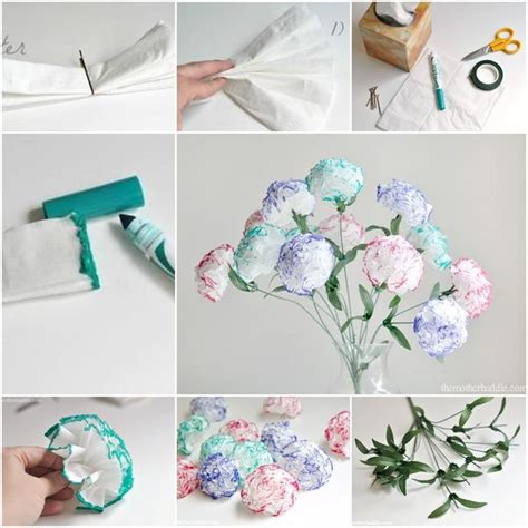 Handmade Tissue Flowers - diy tissue kleenex flowers flower flowers and craft