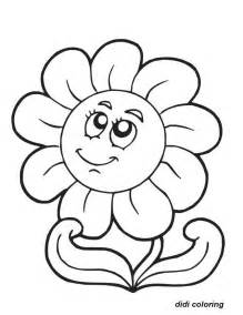 printable flower coloring pages printable smiling flower coloring page for didi