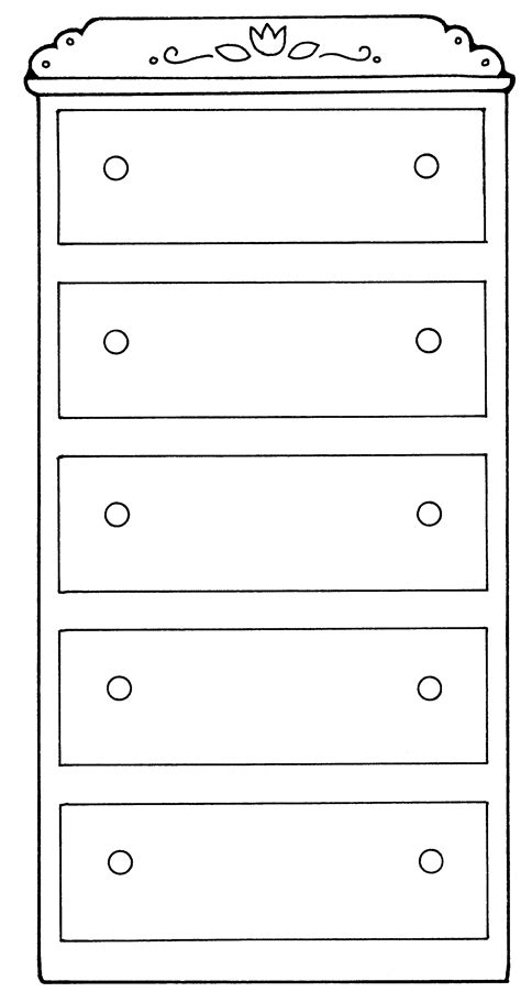 coloring page of a dresser dresser drawers jenny smith s lds ideas bookstore