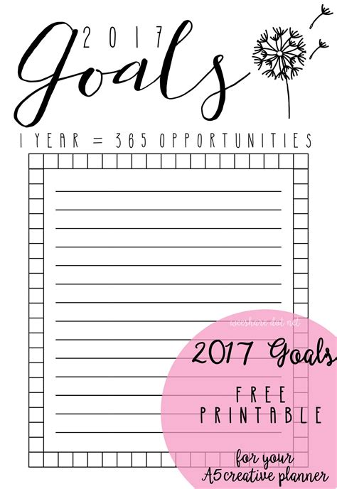 Free A5 Planner Printables 2017