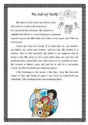 My Family Essay by Me And My Family Worksheet By Sylwia Naj