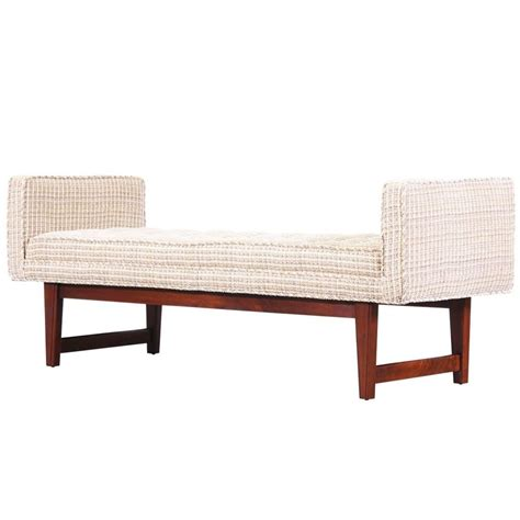 mid century bench mid century modern button tufted bench at 1stdibs