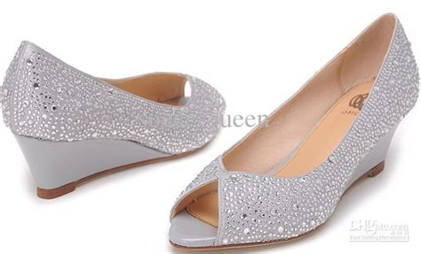 wedge high heels cheap cheap osionce peep toe wedge dress shoes for womens silver