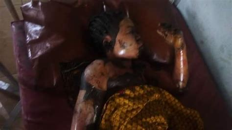 Mba Ise In Imo State Images by His Child Burnt In Their House In Imo State