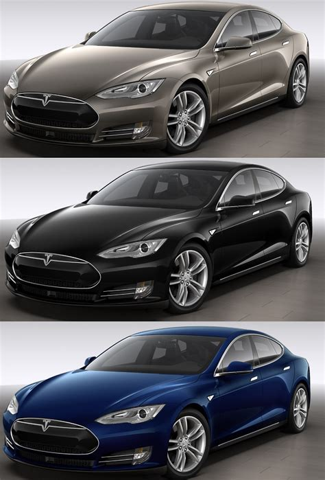 new colors tesla model s 70d in new warm silver color