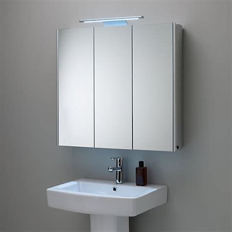 Illuminated Bathroom Mirror Cabinets Buy Roper Absolute Mirrored Illuminated Bathroom Cabinet Lewis