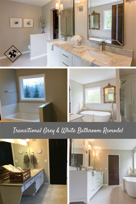 transitional grey white bathroom remodel construction2style