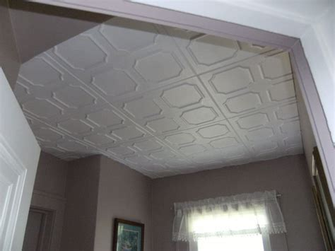 tiled ceiling in bathroom decorative ceiling tiles before and after photos