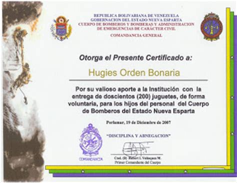 certificado de bomberos royal and imperial house of orient news december 2007