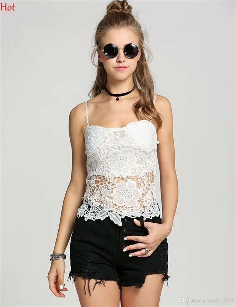Bt8848 Bomberia Lace Brukat White Black 2018 Lace Bralette Top Shirts Spaghetti Lace Crochet