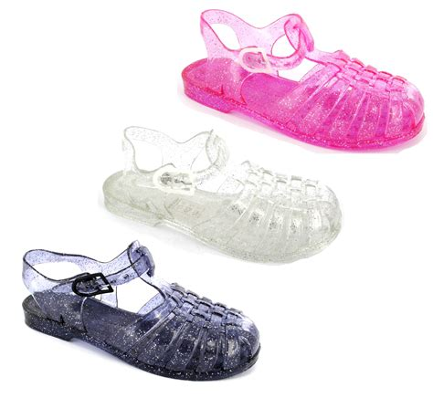 Jelly Shoes Sz37 New new jelly sandals jellies summer buckle sandals shoes size 12 2 ebay