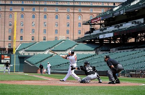 baltimore orioles play game in empty stadium