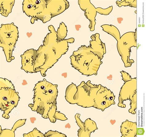 seamless pattern cats seamless cat pattern stock vector illustration of fear
