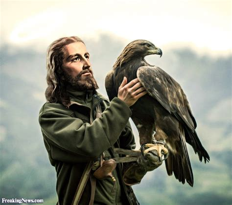 Bird Figures by Jesus Christ Holding An Eagle Pictures Freaking News