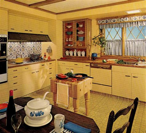 Decor Tiles And Floors by 1970s Kitchen Design One Harvest Gold Kitchen Decorated