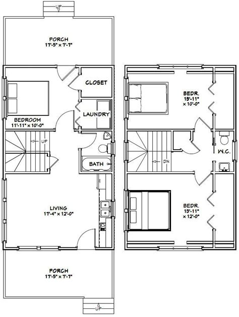 excellent floor plans 18x30 tiny house 18x30h7i 999 sq ft excellent