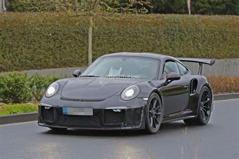new porsche 911 2018 2018 porsche 911 gt3 rs spied has 4 2l engine 911 r like