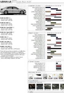 lexus ls 4th gen paint codes amp media archive clublexus