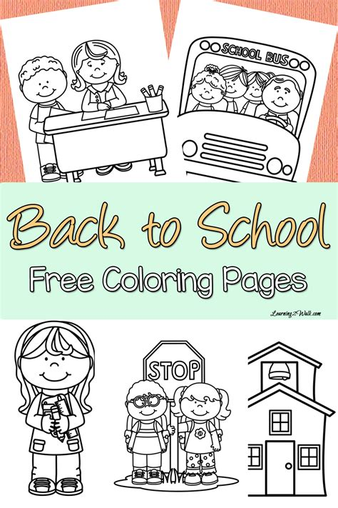 back to school coloring pages free back to school free coloring page set