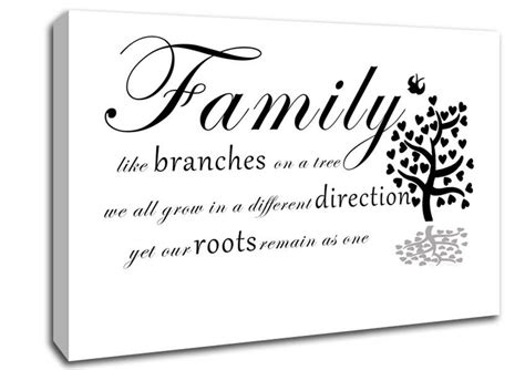 Direct Kitchens And Bathrooms by Family Like Branches On A Tree White Text Quotes Canvas