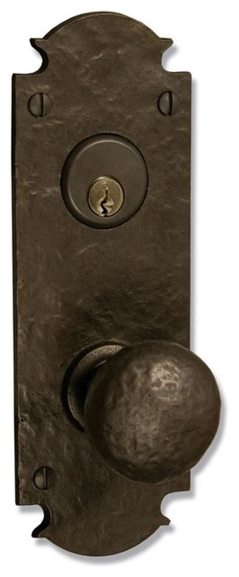 Rustic Front Door Hardware Coastal Bronze 310 Series Solid Bronze Mortise Door Entry Set Medium Plat Rustic