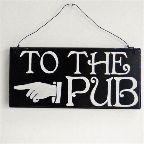 bar sign personalised pub or bar sign by potting shed designs