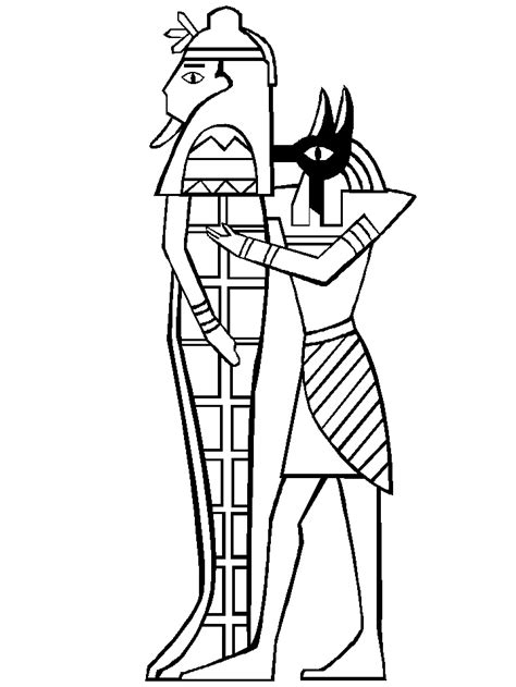 egyptian gods coloring pages coloring home
