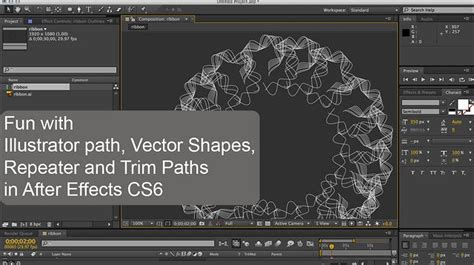 illustrator tutorial vimeo fun with illustrator paths vector shapes repeater and