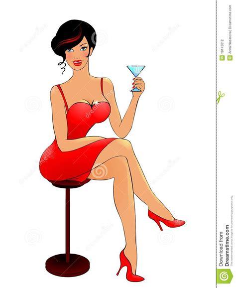 martini woman lady drinking martini clipart