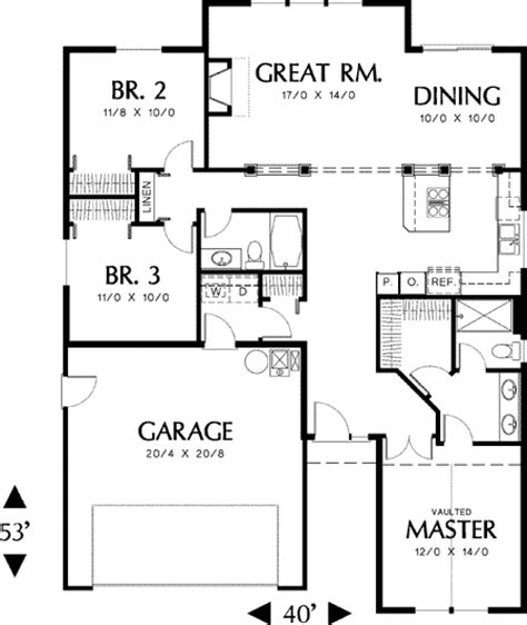 split level open floor plan open floor plan in split bedroom design 69149am 1st