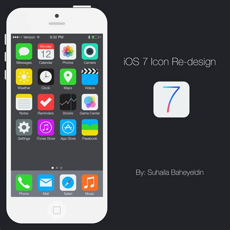 ios 7 typography ios 7 icon re design on behance