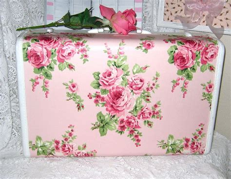 shabby chic great idea for old suitcases crafty pinterest