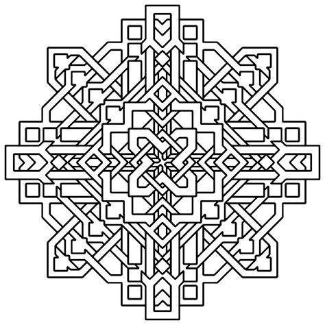 coloring page designs free printable geometric coloring pages for