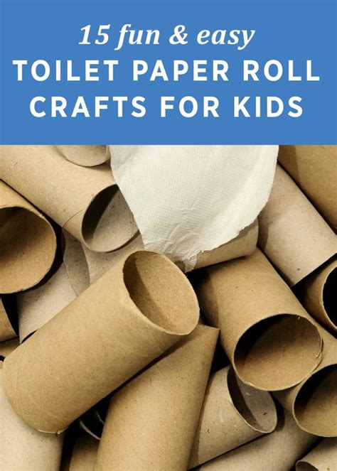 Easy Crafts Using Toilet Paper Rolls - 15 easy toilet paper roll crafts for toilets