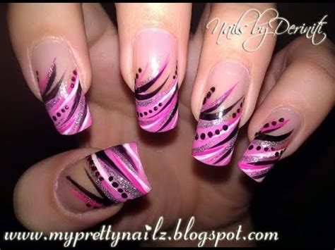 easy nail art using stripers diva tips exotic freehand french tips using nail art