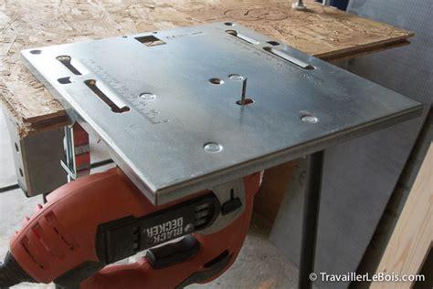 table pour scie sauteuse un lificateur de pour smartphone travailler le bois