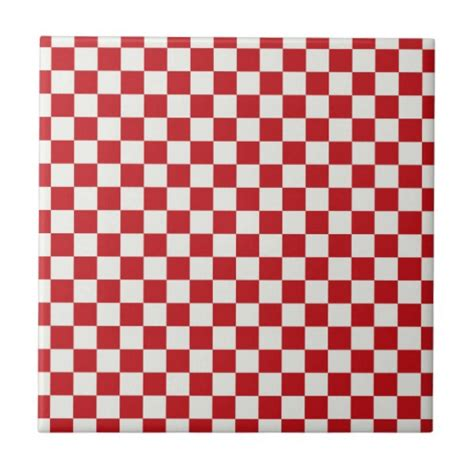 checkerboard pattern red white red and white checkered pattern country bbq colors ceramic