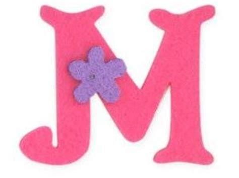 pink felt alphabet letters iron on 25mm motif