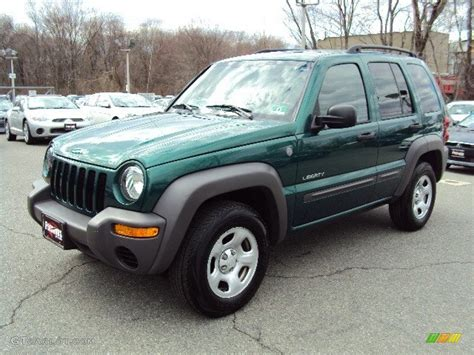 dark green jeep lifted 2004 cactus green pearl jeep liberty sport 4x4 79058812