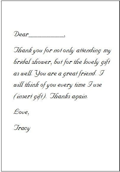 thank you letter to for bridal shower 25 best ideas about thank you card wording on